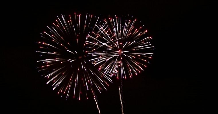Strathaven Fireworks in the park
